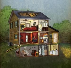 Cutaway home view